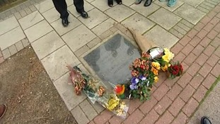 The memorial to Stephen Lawrence in Eltham