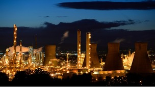 The Grangemouth oil refinery in east Scotland