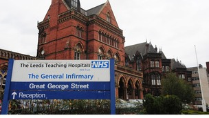 Leeds Teaching Hospitals NHS Trust has been named in the top band of at risk trusts.