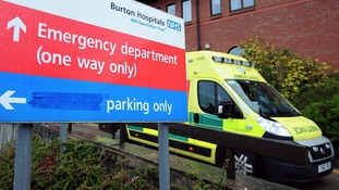 The Burton Hospitals NHS Foundation Trust is among those identified as 'high risk'