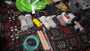 Materials seized by North Wales Police