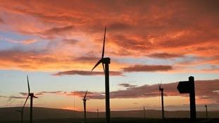 sunset over Cliviger