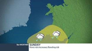 Flood risk extends north