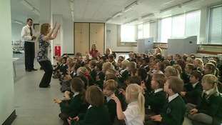 Singing assembly at Parkfield School