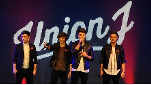 Union J perform at a concert at RAF Northolt to launch the Royal British Legion's Poppy Appeal 2013.