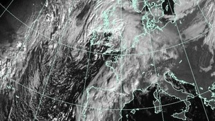 The storm is still developing out over The Atlantic