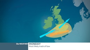 HEAVY RAIN AND STRONG WINDS ON MONDAY