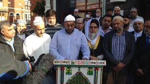 Representatives from the Muslim and Pakistani communities in Derby spoke today