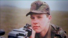 Private Andrew Bull in uniform circa 1983