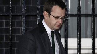 Andy Coulson leaves Downing Street January 21, 2011