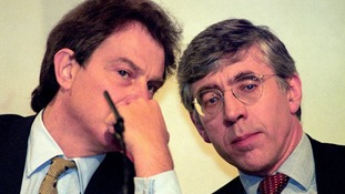 Shadow Home Secretary Jack Straw (right) with former Prime Minister Tony Blair.