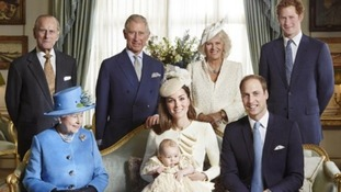 Members of the Royal family pose for the official photo.