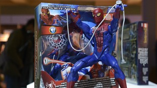 The Amazing Spider Man action figure on sale in London.