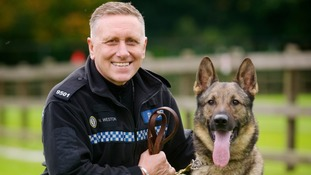 PC Nigel Weston with top dog Gino