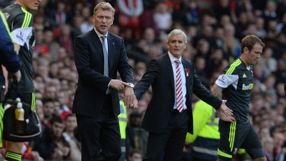 Moyes Minutes? David Moyes has adopted the Fergie watch pointing gesture!