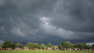 Storm clouds over Leverhulme Park.