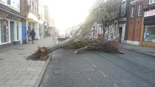 The clear-up operation is underway in Essex after today's storm.