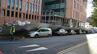 The fence outside the Francis Crick Institute in Camden
