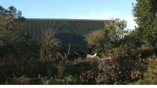 Warehouse roof blown off this morning.