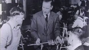 Sam Green, Managing Director Croydon factory making specialist footwear 1955