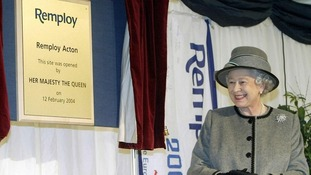 Queen Elizabeth opening the new factory in west London for Remploy