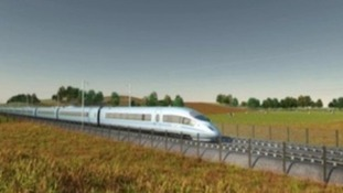 Artist's image of HS2 train