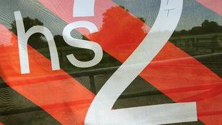 A HS2 sign.
