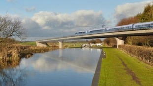 A graphic of the HS2 project.
