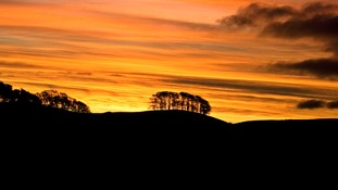 The sun sets on the Yorkshire Dales.