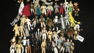 These aren't the droids you're looking for: A batch of Star Wars figures up for grabs today.