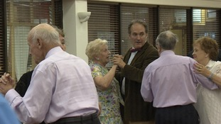 Old couples dancing