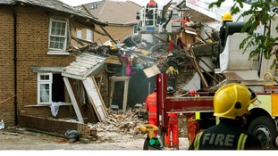 One tree devastated three houses and damaged two others when it fell on a gas main and led to an explosion.