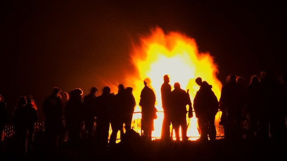 A bonfire in West Sussex, England.