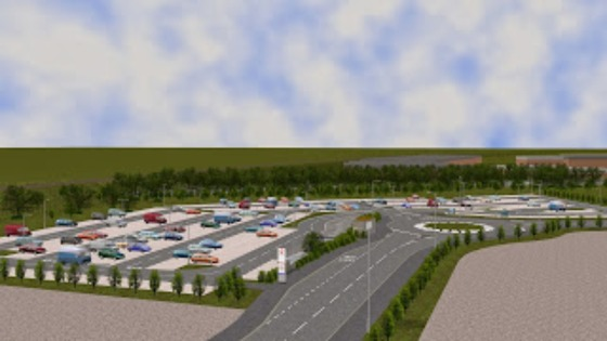 Artist's impression of proposed Elland Road park and ride scheme