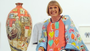 Grayson Perry has loaned designs for his motorbike to the exhibition.