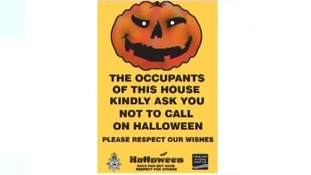 Halloween poster available to residents.