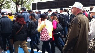 ITV Central follow police protest to London
