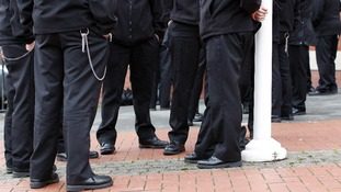 Prison officers stage walkout