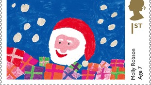 Seven-year-old Molly Robson's design of Father Christmas.