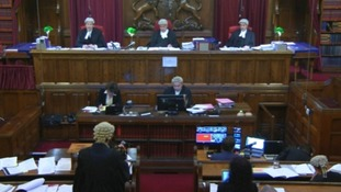 An image from the first few minutes of footage from the Court of Appeal