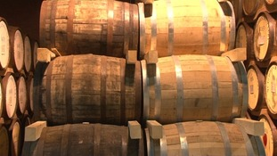 Whisky maturing at the St George's Distillery