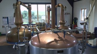 The stills at St George's Distillery