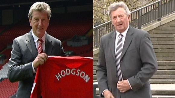 Neil Maybury and Celebrity look-a-like Roy Hodgson