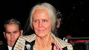 Heidi Klum dressed as an old lady leaves her hotel for her annual Halloween party, New York.
