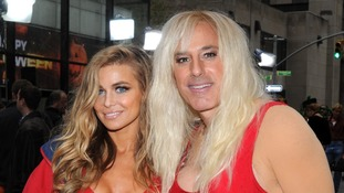 Carmen Electra and Matt Lauer as Pamela Anderson on 'Baywatch' appear on Halloween on the 'Today' show in New York.