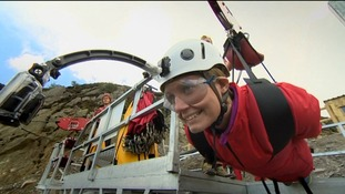 Nicola kitted out ready for the zip wire