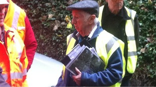 David Lyne from the Leicester Industrial Historical Society is giving the guided tour