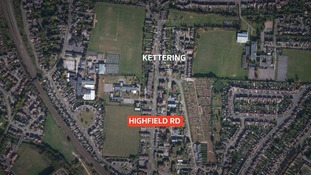 Police have cordoned off a part of Highfield Road in Kettering.