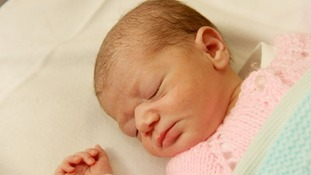 Baby Jade was abandoned in a Birmingham park yesterday