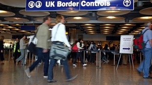 Customs and border staff took part in Thursday's strikes.